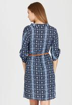 edit - Tunic with Roll-up Sleeve Detail Blue