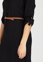 edit - Tunic with Roll-up Sleeve Detail Black