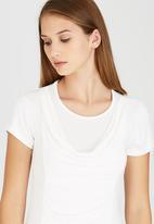 edit - Front Drape Top Off White