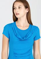 edit - Front Drape Top Turquoise