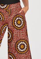 AfroDizzy - Anakara Sunburst Printed Cullottes Mid Brown