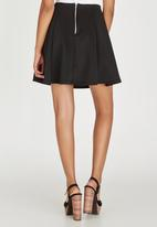 c(inch) - Fit and Flare Mini Skirt Black