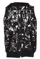 SOVIET - Sleeveless Hoody Black
