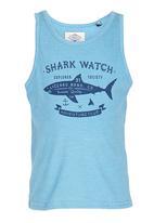Lizzard - Printed Shark  Vest Mid Blue