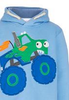POP CANDY - Boys Monster Truck  Hoody Mid Blue