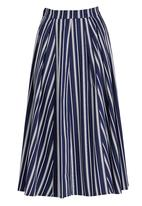 STYLE REPUBLIC - Fit&Flare Skirt Blue and White