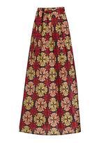 Khanya by Pengelly - Ankara Wax Print Maxi Skirt Multi-colour
