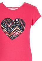 Rebel Republic - Heart Pyjama Set Dark Pink