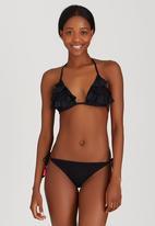 KANGOL - Lace Detail Bikini Bottoms Black