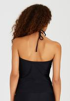 PIHA - High-Neck Tankini Top Black