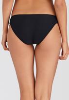 PIHA - Side Gauged Bikini Bottoms Black