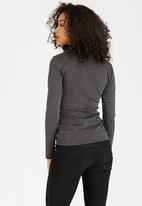 c(inch) - Zip Detail T-Shirt Dark Grey