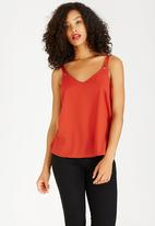STYLE REPUBLIC - Utility Cami Mid Brown