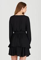 c(inch) - Tiered Mini Dress Black
