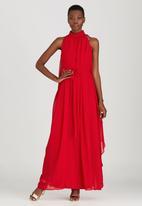 Gert-Johan Coetzee - Angel High-neck Maxi Dress Red