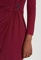 ELIGERE - Wrap Maxi Dress Dark Purple