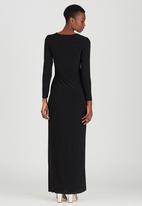 ELIGERE - Wrap Maxi Dress Black