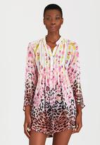 London Hub - Animal Print Shirt Multi-colour