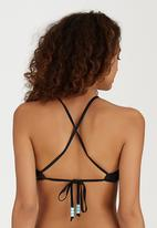 KANGOL - Semi Longline Bikini Top Multi-colour