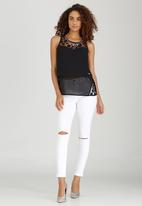 e2aec5ca1d51e Sissy Boy - Ava May Sleeveless Blouse with Neck Trim Black. Click to enlarge