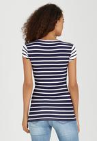 SISSY BOY - Ginger Striped Tee Blue and White