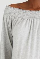 edit Maternity - Off Shoulder Top Grey Melange