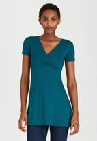 edit - Cross Over Front Tunic Turquoise