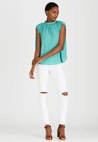 STYLE REPUBLIC - High Neck Blouse Light Green