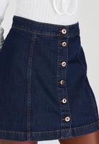 STYLE REPUBLIC - Mini A-Line Skirt Dark Blue