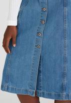 STYLE REPUBLIC - Midi A-Line Skirt Mid Blue
