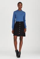 STYLE REPUBLIC - Longer A-Line Mini Skirt Black