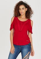 SISSY BOY - Clarita Loose Fit Top Red