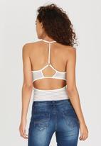 SISSY BOY - Fedanna Bodysuit White