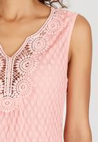 SISSY BOY - Delta Cami with Crochet Neck Coral