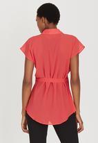edit Maternity - Chiffon Shirt Coral