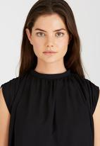 STYLE REPUBLIC - High Neck Blouse Black