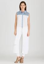 G Couture - Long Shirt with Side Slits White