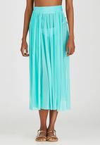 SALT - Mesh Panel Skirt Green