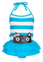 POP CANDY - 2 Piece Swimming Set Blue and White