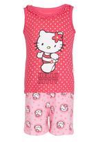 POP CANDY - Girls  Printed Pajayma Set Mid Pink