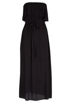 edit - Boob Tube Maxi Dress Black