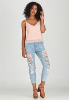 c(inch) - Cami with Strap Detail Pale Pink