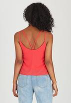 c(inch) - Cami with Strap Detail Coral