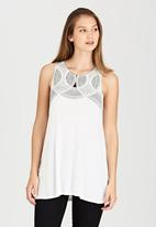 RVCA - Neck Lace Tank Off White
