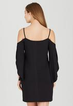 STYLE REPUBLIC - Cold Shoulder Slip Dress Black