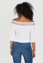 edit - Gypsy Blouse with Crochet Trim White