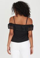 edit - Cami with Crochet Trim Black