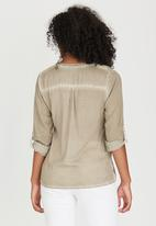 G Couture - Top with Lurex Rhinestone Detail Stone
