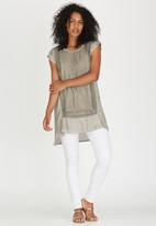G Couture - Border Crochet Tunic Grey