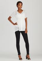 edit Maternity - Lace Inset Shirt White